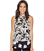 Ellen Tracy - Mixed Print Overlay Shell