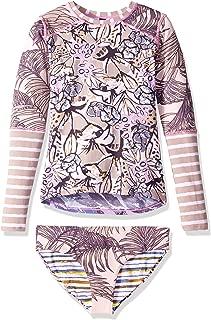 Girls' Long Sleeve Rashguard Swimsuit Set