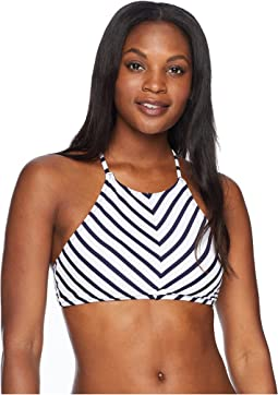 Channel Surf Reversible High Neck Halter