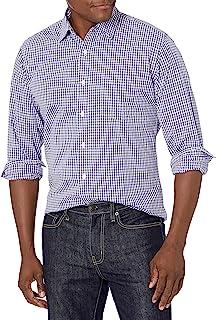 [Amazon Essentials] レギュラーフィット 長袖 無地 ポプリンシャツ メンズ