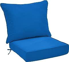 AmazonBasics Deep Seat Patio Seat and Back Cushion- Blue