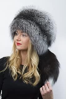 Silver Fox Fur All Fur Hat Saga Furs Detachable Tail