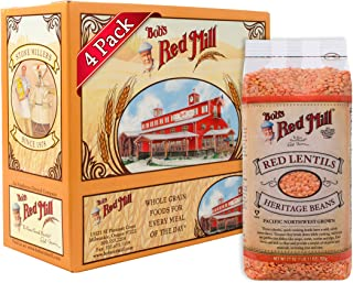 Bob's Red Mill Red Lentil Beans, 27 Oz (4 Pack)
