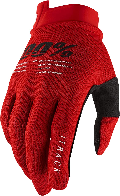 100% ITRACK Ultralight Motocross Gloves - Lightweight MX Dirt Bi