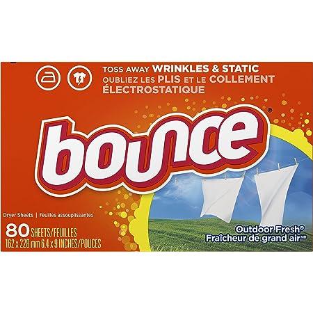 Bounce Hojas secadoras con suavizante de tela aroma a aire fresco, 80 unidades