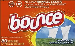 Bounce toallitas desechanles con suavizante para ropa, 80 hojas