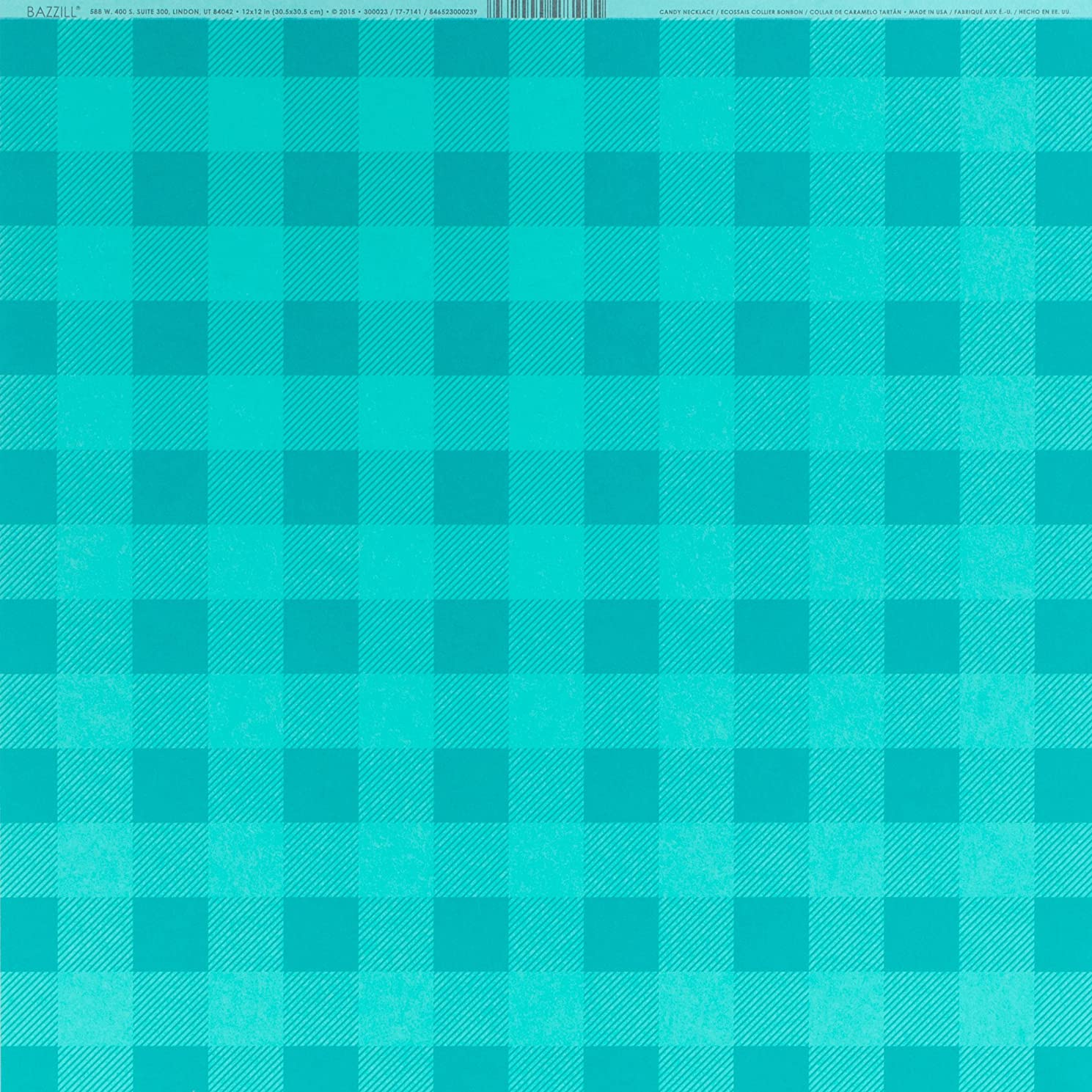 American Crafts Bazzill Basics Plaid Cardstock 12 X 12 Inch 25 Pack Plaid Candy Necklace