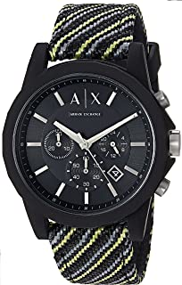 Armani Exchange Black Fabric & Silicone Watch AX1334