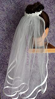 first communion veil bun wrap