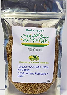 Red Clover, Microgreen for Sprouting, Organic Red Clover Sprouting Seeds - 5 Lb Resealable Bag, Sprouts, Microgreens, Gardening, Food Storage