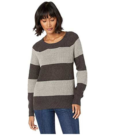 BCBGeneration Stripe Sweater FOH5254929 (Charcoal Combo) Women