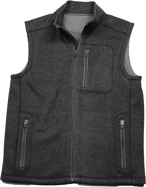 Flag & Anthem Wilsonville Charcoal XX-Large Full-Zip Fleece Vest
