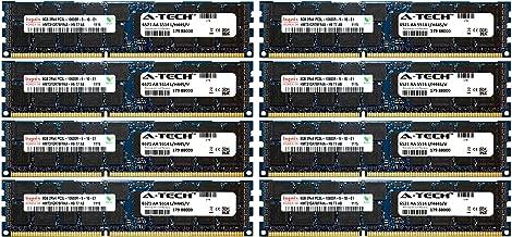 A-Tech Hynix 64GB Kit 8X 8GB PC3-10600 1.35V for HP ProLiant SL270S G8 500658-B21 DL170E G6 SL4540 G8 BL2X220C G6 BL2X220C G7 500203-061 BL420C G8 BL460C G8 BL490C G7 500658-S21 Memory RAM