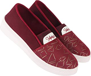 Camfoot-5029 Red Exclusive Range of Loafers Sneakers Shoes for Women