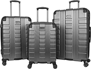 Kenneth Cole Reaction Scott's Corner Hardside Expandable 8-Wheel Spinner TSA Lock Travel Suitcase, Charcoal, 3-Piece Set (...