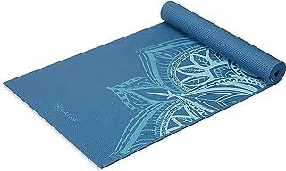 Gaiam - Esterilla de Yoga de Alta Calidad, Extra Gruesa, Antideslizante, para Todos los Tipos de Yoga, Pilates y Ejercicios de Piso, Punto índigo, 6 mm