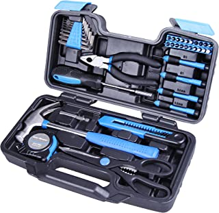 Cartman Blue 39-Piece Cutting Plier Tool Set – General Household Hand Tool Kit with..
