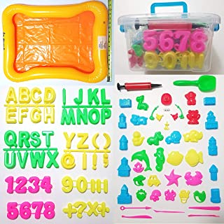 JM 95 Piece Deluxe Complete Activity Sand Molds Tools Set, Works with All Other Play Sand Brands