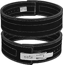 DEFY Power Lifting Belt Lever Buckle Genuine Leather 10MM Gym Training Exercise Belt Black