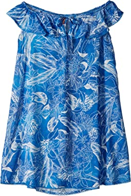 Blue Cat Fish Short Dress Cover-Up (Toddler/Little Kids/Big Kids)