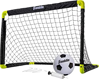 Franklin Sports Kids Mini Soccer Goal Set - Backyard/Indoor Mini Net and Ball Set with Pump - Portable Folding Youth Socce...