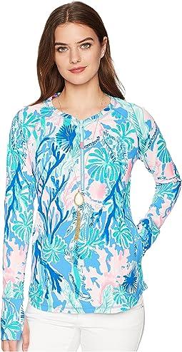 UPF 50+ Luxletic Delaynee Meryl Nylon Half Zip