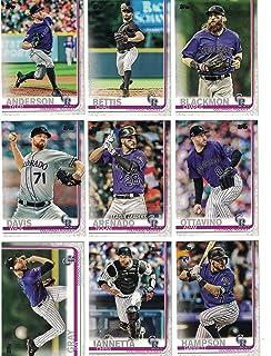 Colorado Rockies/Complete 2019 Topps Series 1 Baseball Team Set! (11 Cards) Includes 25 bonus Rockies Cards!