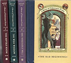 A Series of Unfortunate Events Hardback Books 1-4 Bad Beginning / Reptile Room / Wide Window / Miserable Mill