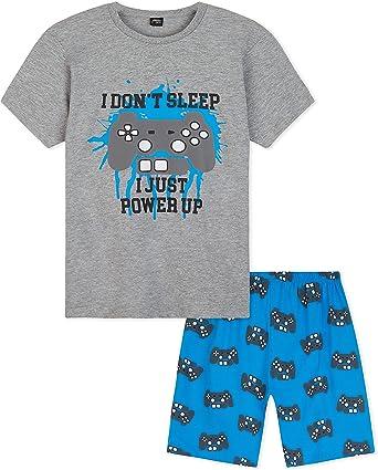 CityComfort Pijama Niño, Pijamas Niños Cortos de Videojuegos, Conjunto Camiseta y Pantalon Corto, Regalos para Niños y Adolescentes Edad 5-14 Años