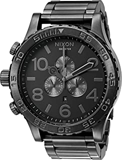 Nixon 51-30 Chrono. 100m Water Resistant Men's Watch (XL 51mm Watch Face/ 25mm Stainless Steel Band)
