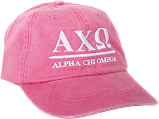 Alpha Chi Omega (B) Sorority Embroidered Baseball Hat Cap Cursive Name Font AXO