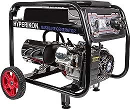Hyperikon Gas Generator, 2800/3000 Watts, Portable Emergency Backup Generators, Electric and Recoil Starter, Wheel Kit, Dual Voltage