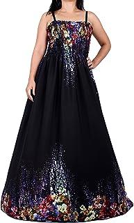 فستان ماكسي للنساء مقاس إضافي مطبوع عليه زهور طويل يصل إلى الأرض بدون أكمام كاجوال لحفلات الشاطئ مقاس XL 1X 2X 3X 4X