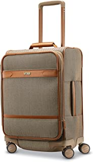 Hartmann Herringbone Deluxe Expandable Softside Luggage with Double Spinner Wheels