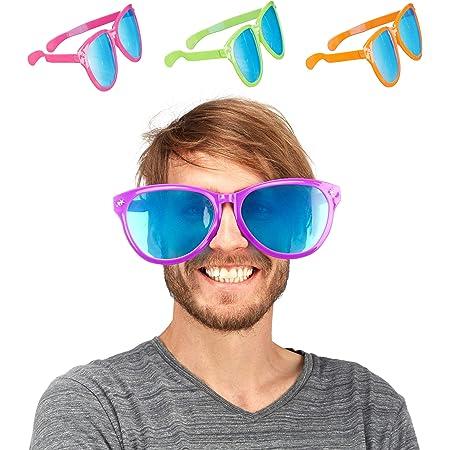 Relaxdays Party Glasses, Blue XXL Party Favour, Fancy Dress Accessories, Halloween, Mardis Gras, Plastic, 25 cm Wide, Various Colours