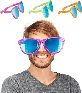 Relaxdays 10022561 Accessoire de soirée fête Anniversaire Lunette géante XXL déguisement 25 cm Plastique, Coloré, 9 x 25 x...