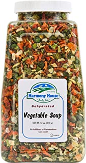 Premium Vegetable Soup Mix - Dehydrated (12 oz. Quart Size Jar) by Harmony House Foods