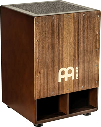 Meinl Jumbo Bass Subwoofer Cajon with Internal Snares - NOT MADE IN CHINA - Walnut Playing Surface, 2-YEAR WARRANTY (...