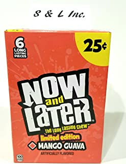 Now & Later Limited Edition Flavor Mango Guava 24ct Changemakers Sold By S and L Wholesale