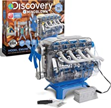 Discovery Kids DIY Toy Model Engine Kit, Mechanic Four Cycle Internal Combustion Assembly Construction, Comes W/Valves, Cy...