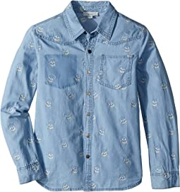 Stella McCartney Kids - Melvil Skull Embroidered Chambray Shirt (Toddler/Little Kids/Big Kids)