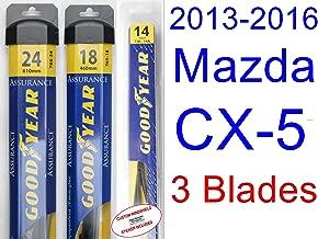 2013-2016 Mazda CX-5 Replacement Wiper Blade Set/Kit (Set of 3 Blades) (Goodyear Wiper Blades-Assurance) (2014,2015)