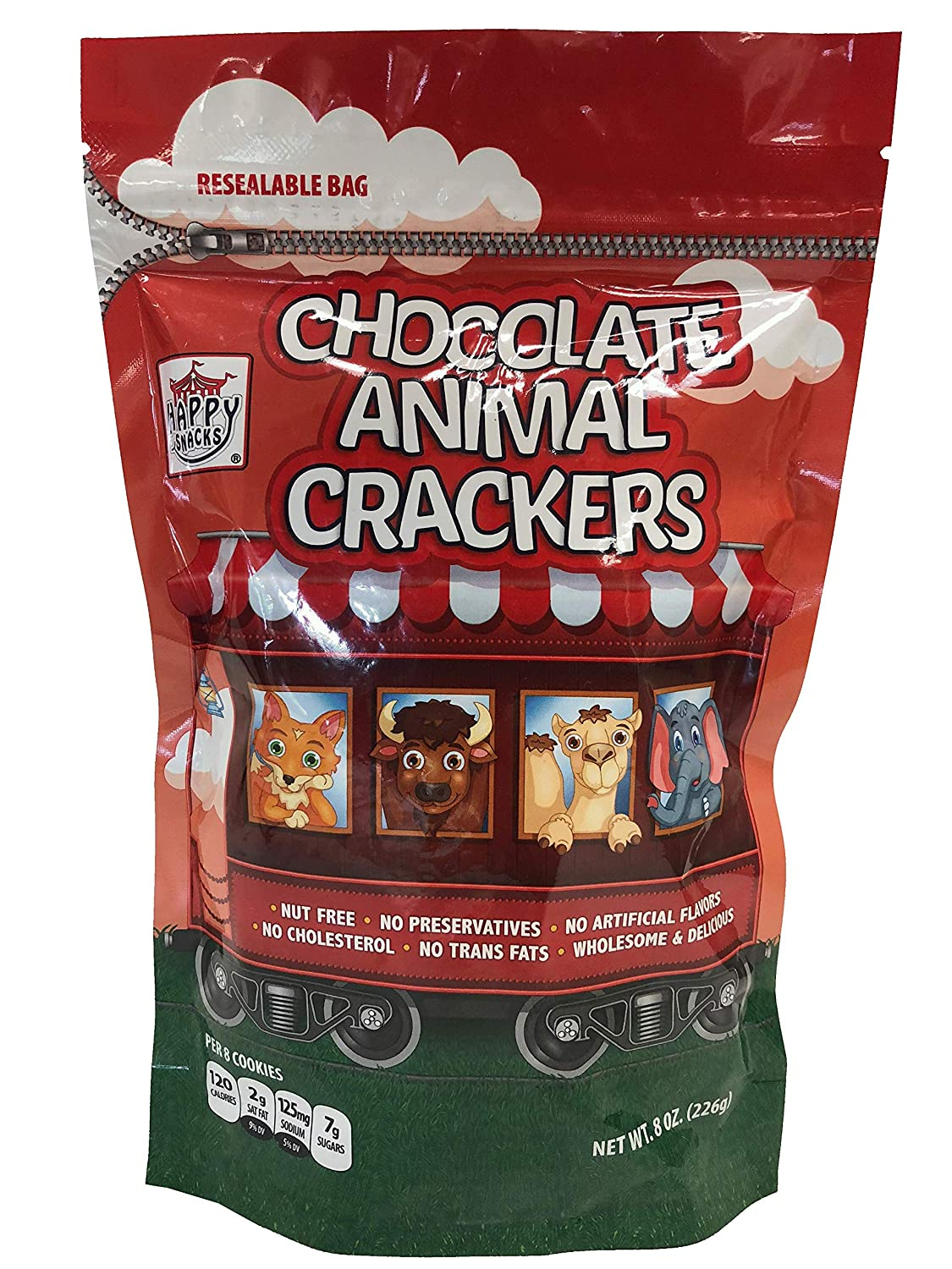 Happy Snacks Animal Max 57% OFF Crackers Chocolate Resealable 8 Bag Ounce Selling and selling