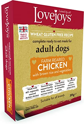 Lovejoys Complete Wet Adult Dog Food Chicken Rice and Vegetable, 395 g
