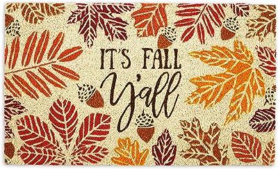 DII 5232 Natural Coconut Coir Seasonal Doormat, It's Fall Y'all
