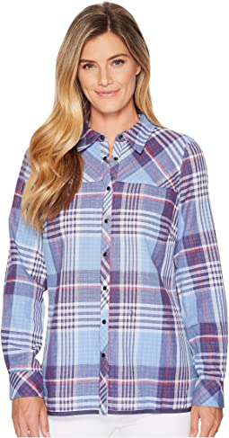 FDJ French Dressing Jeans - Big Check Little Check Reversible Blouse