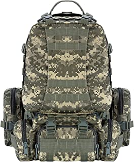 CVLIFE Tactical Backpack Military Army Rucksack Assault Pack Built-up Molle Bag