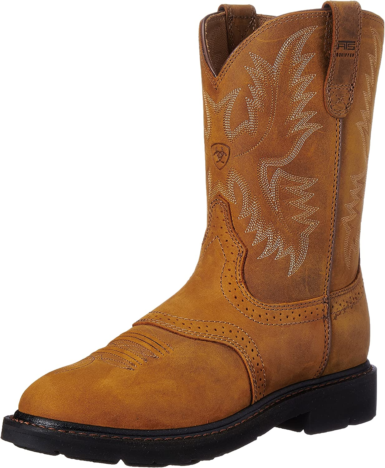 Ariat Men's Sierra Saddle Work Boot, Aged Bark, 12 B US