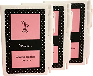 Paris Party Favors Girls Eiffel Tower Theme Notebook with Pen Set 12 Items