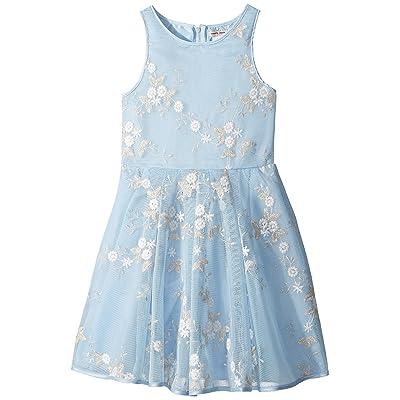 Nanette Lepore Kids Embroidered Metallic Dress (Little Kids/Big Kids) (Light Blue) Girl